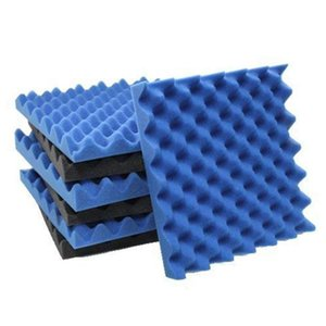 EASY-6 Pack Black + blue   Charcoal egg crate foam acoustic tiles soundproofing foam panels sound insulation soundproof foam pad
