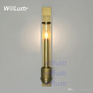 Willlustr copper or stainless steel wall sconce mouth blown clear glass shade lamp modern lighting porch staircase hotel cafe vanity light