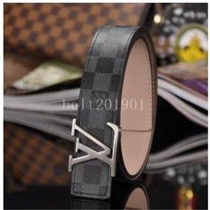 Hot Selling New Men Womens Fashion Black Genuine Leather Letter Belt For Gift Top Seller designer BeltsLvS Including Box