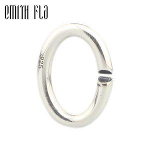 925 스털링 실버 DIY Jewelry Findings 부품 O 서클 링크 X 자물쇠 Charms Chain Locks 맞는 유럽 팔찌 쥬얼리