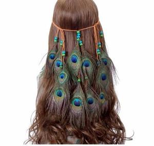 Indian Feather Stirnband Awaytr Zubehör 2019 Festival Frauen Hippie Einstellbare Kopfschmuck Feder Haarband