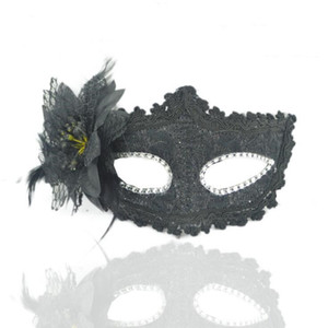 Sexy Maskerade-Schablonen-Blumen-Halloween-Maske Venetian Tanz-Party-Bar Prinzessin Maske Venedig-Party-eleganter Maske Supplies LXL696-1