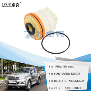 ZUK 5PCS Lot Fuel Filter Diesel Filter Element Kit For Toyota HILUX 2012-2015 KUN16 KUN26 HIACE 2017 FORTUNER 12-15 23390-0L050