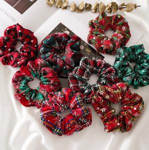 2020 Joyeux Noël femmes cheveux Accesorios dames cheveux cravate rayée Lady Chouchous Ponytail cheveux femme fille Porte-corde DHL