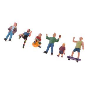 1 87 Scale Resin People Figure Model - Assorted Player for Train Roadway Scenery Decoration