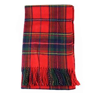 Women Winter Infinity Blanket Oversized Shawl Plaid Check Tartan Scarf Wrap