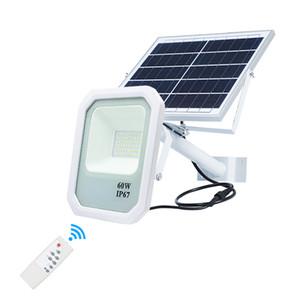 Umlight1688 Solaire étanche IP65 100W Projecteur Télécommande LED Street Flood Lumière LED solaire Éclairage extérieur