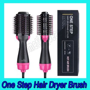 .Hot Air Brush One Step 2-in-1 Hair Dryer & Styler & Volumizer Multi-functional Straightening & Curly Hair Brush with Negative Ions
