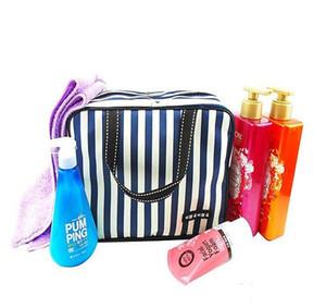 Striped Bath saco Impermeabilização sacos Grande viagem capacidade Wash Outdoor Saco para homens e mulheres portátil Pacote Makeup Organizer LXL852-1