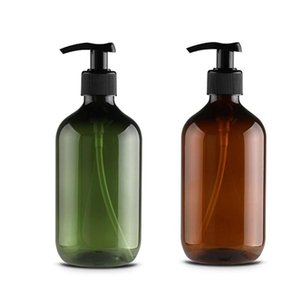 Grande 500ml Capacità Ambra Glass Shampoo Svuotare lozione contenitore Schiuma Pressed Bottiglia della pompa per sapone Shower Gel Bagno
