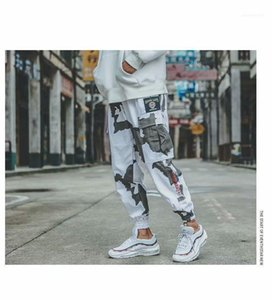 Pantalon cargo Casual Hommes Printemps Camouflage Designer Pantalons longs Hiphop Pantalons rue