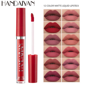 HANDAIYAN nuevo mini mata líquida impermeable del lápiz labial Lipgloss Smooth labios maquillaje mate atractivo natural Bálsamo Labial Set