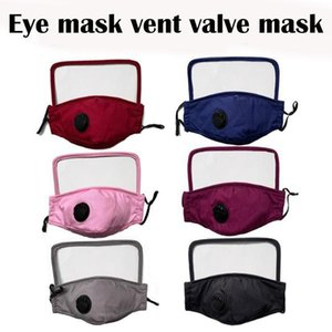 DHL SHIP New Designer Masques Visage Eye Shield extérieur 2 couches lavables en coton avec fente Facemask Personnes de protection Masque FY9078