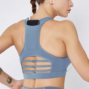 wholesale lu movement of the back pocket bra shockproof bar cozy net yarn splicing sports bra vest large size yoga clothes women joggers