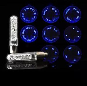 Atacado New Hot fresco 7 LED de bicicleta de montanha da lâmpada da bicicleta do pneu da roda falou flash letra luzes Hot venda luzes coloridas válvula