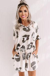 Frees For Pajamas Tiedye For Womens Crew Neck Tie Dye Pajama Short Sets Set Tie Dye Pajamas Floral Print Nightwear Clothing Sweet07