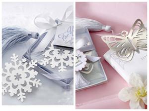 (10 parti / lotto) Farfalla disegno Bookmark favore e segnalibri da sposa fiocco di neve a nuziale doccia favori partito ed il regalo di nozze per gli ospiti