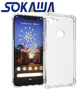لجوجل Pixel 3a XL / Pixel 3 XL كفر ناعم TPU TPU Gel Skin Clear Silicon Back Shell Cover