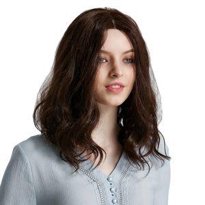 Parrucca piena Donne Medium Shoulder lunghezza ondulati parrucca Retro Cosplay a mano