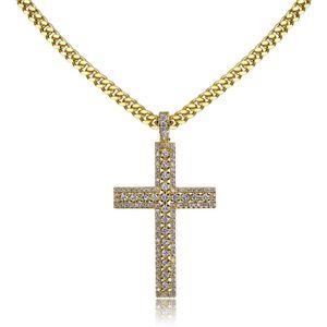 Kreuz Anhänger Halskette Mikro pflastern CZ-Steine ägyptische Art Gebet Hip Hop-Anhänger Halskette Schmuck für Männer