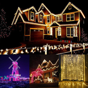 Solar led colorful lights flashing lights string lights starry light s snowflakes Christmas light s festive decorations atmosphere light s
