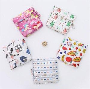 Nuevo Hogar Bolsa Sanitaria linda de la servilleta de tela de algodón Bolsa de almacenamiento de gran capacidad mujeres Sanitaria bolsa de almacenamiento Organizador tarjeta de crédito