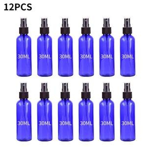 12 шт. синий 30мл дорожный спрей пластиковая бутылка маленький распылитель распылитель пластиковый контейнер с жидким маслом