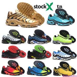 TN Plus SE Running Shoes For Men Trainer Triple Black Volt Spray Paint Bright Cactus Hyper Blue Men Sports Sneaker Designer Sneakers