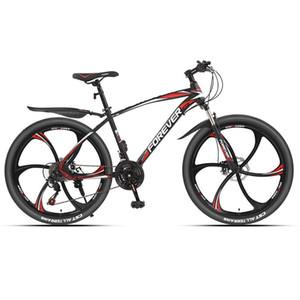 24/26 Inch 21/24/27/30 Speed Six cortador Roda Off Road Velocidade Variável dobro do freio de disco Imitação Carbono Quadro Mountain Bike