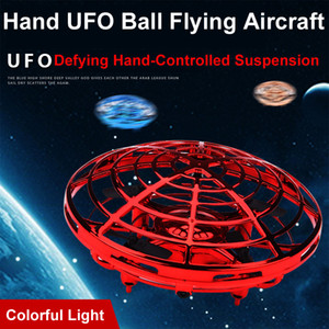Frete grátis anti colisão mão UFO bola voando aeronaves RC brinquedos gravidade desafiando mão controlada brinquedo de suspensão de helicóptero