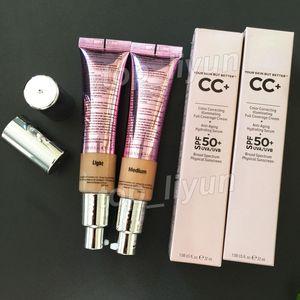 Makyaj Krem Aydınlatılması Cilt Ama Daha İyi Kozmetik CC + krem Aydınlatma Kapatıcı Tam Kapsam yüz Vakfı 32ml Hafif Orta