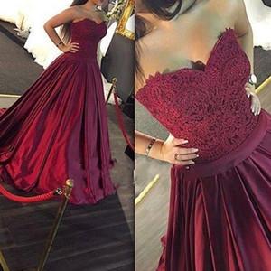Robe de bal princesse 2019 robe de bal bourgogne robe de bal de bal de bal dentelle Appliques chérie Longues robe de bal élégantes robes de soirée élégantes