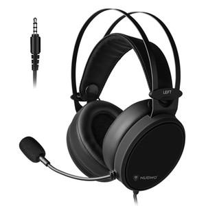NUBWO N7 3.5mm Gaming Headset Derin Bas Kulaklık On Kulak Xbox One PC Akıllı Telefon T191021 için Kulaklık Mikrofon İçin PS4 Yeni