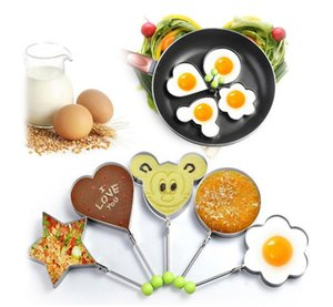 Fheal 5Pcs  Set Stainless Steel Cute Shaped Fried Egg Mold Pancake Rings Mold Kitchen Tool SZ590