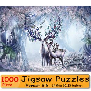 مايكرو الألغاز 1000 قطعة عيد الميلاد لاكي الغابات إلك الصغيرة بانوراما الألغاز 1000 قطعة السنة الجديدة هدية للأطفال الأطفال الكبار