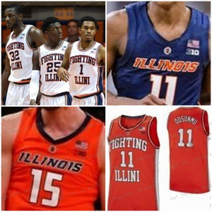 NCAA Custom Illinois Fighting Illini Jersey 1 Trent Frazier 11 Ayo Dosunmu 2 Kipper Nichols 10 Andres Feliz 5 Tevian Jones 12 Meyers Leonard