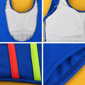 Andzhelika 2020 Kızlar Spor Mayolu Tek parça mayo Patchwork Katı çok renkli bodysuit Suit Kızlar Mayo