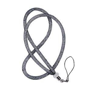 Collo della collana Etmakit Nizza cristallo cordicella della cinghia U Disk ID Work Card Mobile Cellulare catena cinghie portachiavi telefono Hang Rope