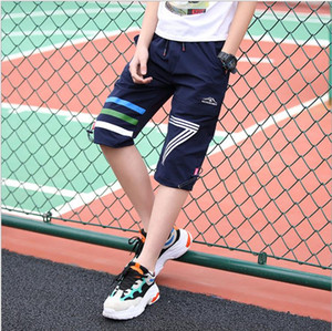 61 5000 New Casual boy pants summer thin sweatpants mid-size children's outdoor quick pants mid-size loose capri pants