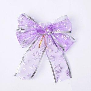 Xmas Tree Bowknot Pendant Christmas Bows Snowflake Bow Drop Ornaments Wedding Party Holiday DIY Decorations