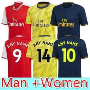 2019 2020 아르센 홈 노란색 축구 유니폼 셋째 깊고 푸른 리그 클럽 19 20 아스날 축구 셔츠 남자 여자 아이의 셔츠를 멀리 빨간색