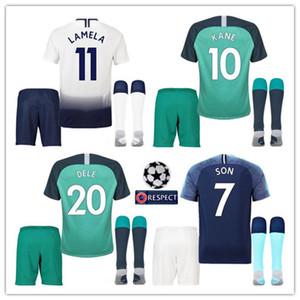 2018 2019 Высочайшее качество в Таиланде KANE spurs Футбол Джерси LAMELA ERIKSEN DELE SON jersey 18 19 Футбольная форма рубашка KIDS KIT SET форма