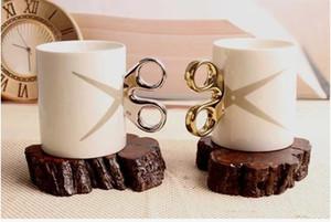السيراميك القدح مقص شخصية خلاقة مكتب فنجان القهوة