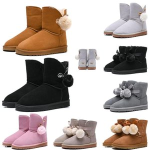Luxury Fashion Australia Women Boots Classic snow Boots tall Bailey Bowknot girl winter desinger Keep warm des chaussures size 36-41