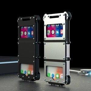 Сталь Флип Металл Алюминий Сверхмощные защитные чехлыКрышка для Apple iPhone X 6 6S 7 8 Plus Iron Man 360 Полный противоударный кронштейн Стенд Чехол