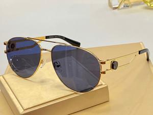1269 gafas de sol sin montura nueva medusa diseñador piloto marco de las gafas de sol de marca hombres recubrimiento mirrorr estilo del verano del estilo del steampunk de la lente