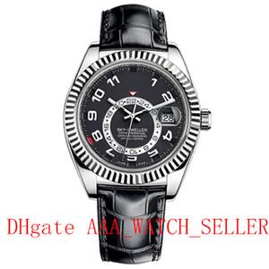 3 Style Haute Quality Sky Dweller 326139 m326135 326935 Sangle de cuir Mouvement mécanique automatique Master Luxury Mens Sport Montre-Bracelet