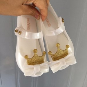 Mini Melissa Ultragirl 2019 Original Girl Jelly Sandals Crown Kids Sandals Children Beach Shoes Non-slip Melissa Toddler