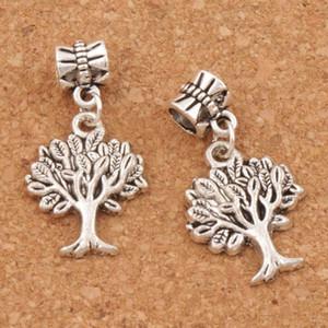 100pcs / lot Antique Silver 31.9x16.8mm Tree of Life Big Hole Perles Breloques Pendentifs bricolage Bracelets Colliers Fit Accessoires Bijoux Best Cadeaux