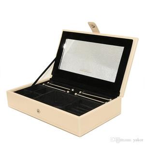 새로운 고품질 PU 가죽 보석 Pandora 매력 반지 용 큰 상자 팔찌 목걸이 원래 저장 상자